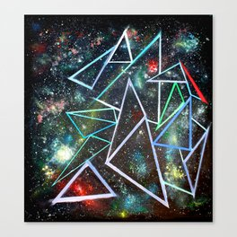 My Father's Star Charts Canvas Print