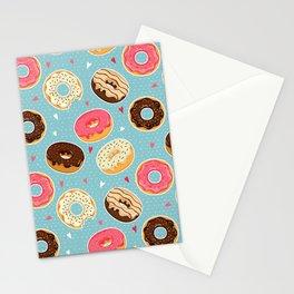 Donut - Doughnut - Bagel - Pattern - Polka Dot Stationery Cards
