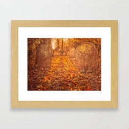 Autumn graveyard Framed Art Print