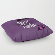 Keep Calm, We're All Mad Here Floor Pillow