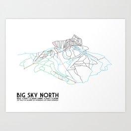 Big Sky, MT - Northern Exposure - Minimalist Trail Map Art Print