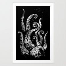 undersea attack Art Print