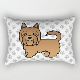 Red Australian Terrier Dog Cute Cartoon Illustration Rectangular Pillow