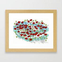 Field Poppies Framed Art Print