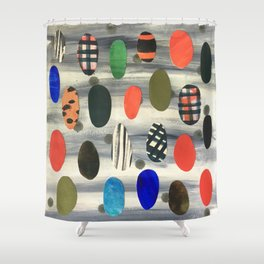 Egg Drops Shower Curtain