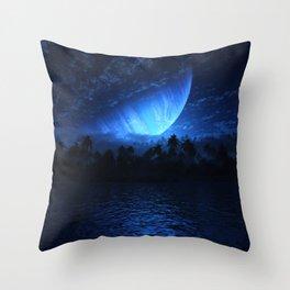 Atoll (Nightfall) Throw Pillow