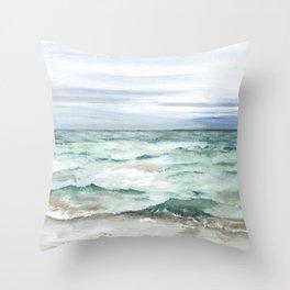 Oceanscape of Anna Maria Island Florida. Throw Pillow