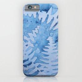 Blue ferns iPhone Case