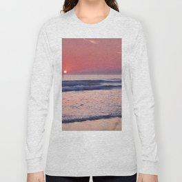 Barrosa Beach Waves At Sunset. Cadiz Long Sleeve T-shirt