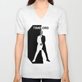 Abstract Timelord Art Unisex V-Neck