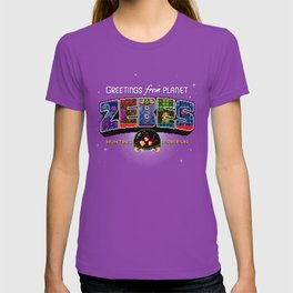 Greetings from Planet Zebes T-shirt