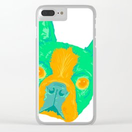 boston terrier - wht Clear iPhone Case