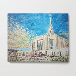 Ogden Utah LDS Temple Metal Print