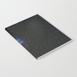 Peiades star cluster and a Orionid Meteor Notebook