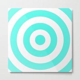 Target (Turquoise & White Pattern) Metal Print