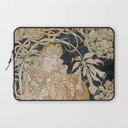 1898 - 1900 Femme a Marguerite by Alphonse Mucha Laptop Sleeve
