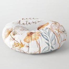 hello autumn Floor Pillow