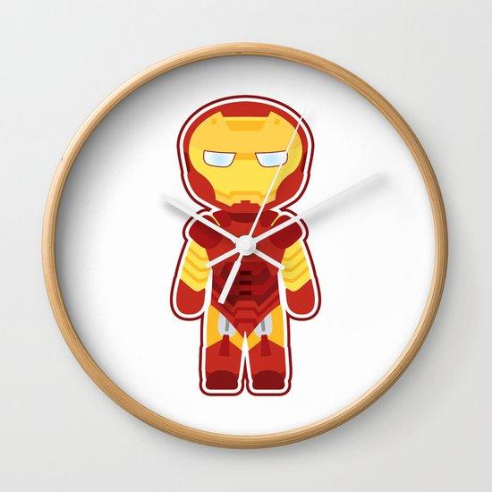 Chibi Iron Man Wall Clock