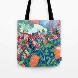 Floral Migrant Quilt Tote Bag