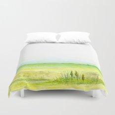 Green meadow Duvet Cover