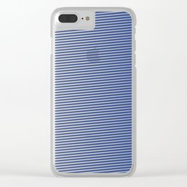 Eyes-challenging Lines (Royal/Pool) Clear iPhone Case
