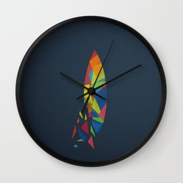 Surfboard abstract triangle Wall Clock