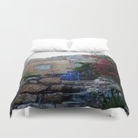 greece Duvet Covers featuring Greece #2 by lularound
