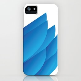 Blue Feathers iPhone Case