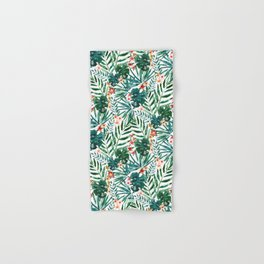 TROP DON'T STOP Tropical Palms and Monstera Hand & Bath Towel