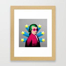 Wolfgang Amadeus Mozart Rock Superstar Framed Art Print