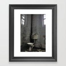 Toilet Trouble Framed Art Print