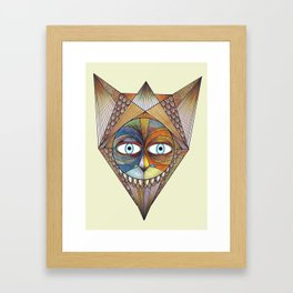 Parted and Feathered Framed Art Print