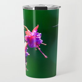 Anna's hummingbird visits our fucsias! Travel Mug