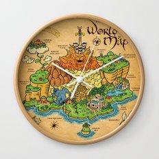 World Map - Mario RPG Wall Clock