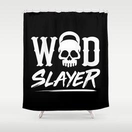 WOD Slay er Skull Shower Curtain