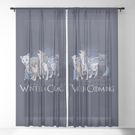 Winter Wolf Sheer Curtain