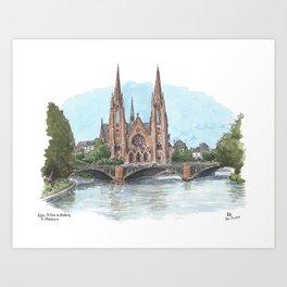 Eglise St. Paul, Strasbourg Art Print