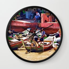 Yangon Harbour Wall Clock