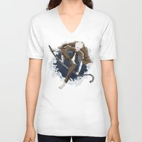 jack frost V-neck T-shirts featuring Jack Frost by Chouly-Shop