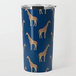 Giraffe african safari basic pattern print animal lover nursery dorm college home decor Travel Mug