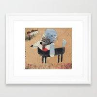 poodle Framed Art Prints featuring Poodle by Natalie Pudalov