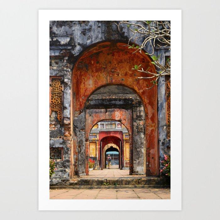 Multiple doors in Hueu0027s imperial city Art Print & Multiple doors in Hueu0027s imperial city Art Print by ebgraphics | Society6