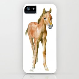 Watercolor Horse Painting iPhone Case