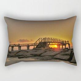 Morning at the Pier Rectangular Pillow