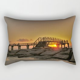 Morning at the Pier Rectangular Pillow