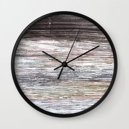 Gray abstract watercolor Wall Clock