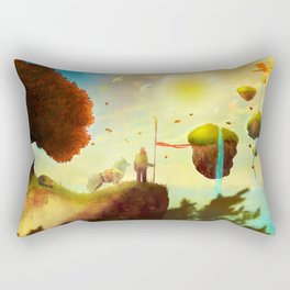 Burning Leaves Rectangular Pillow
