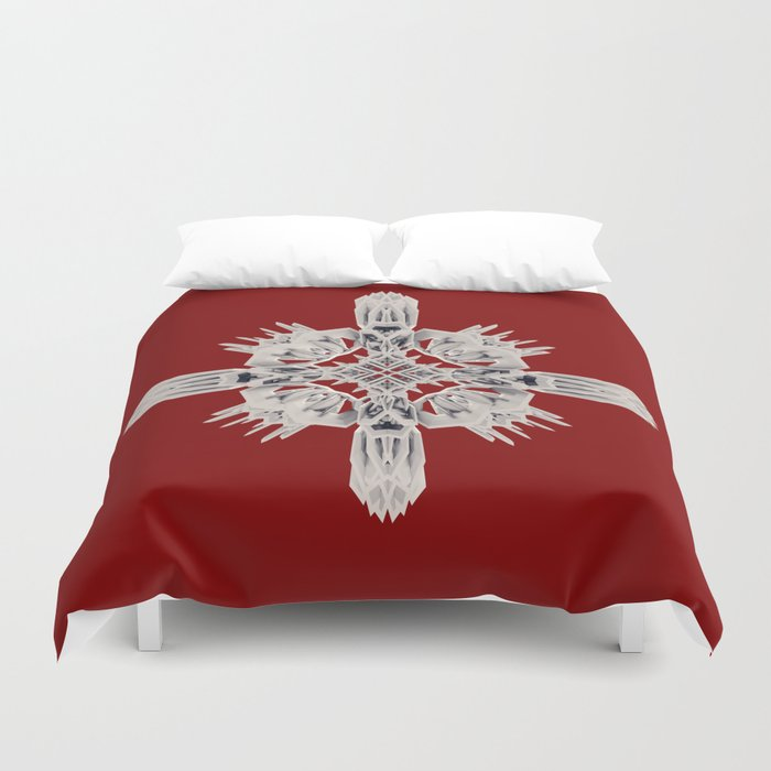 Ancient Royal Calaabachti Urn Duvet Cover