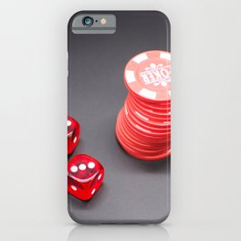 Two dice and Poker iPhone Case