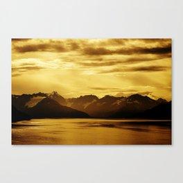 The Bay and Mountains Near Turnagain Arm, Alaska Canvas Print